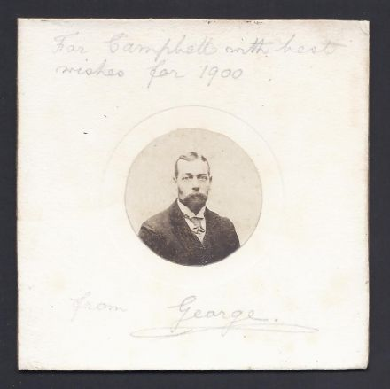 King George V Signed Christmas Card Photo 1900